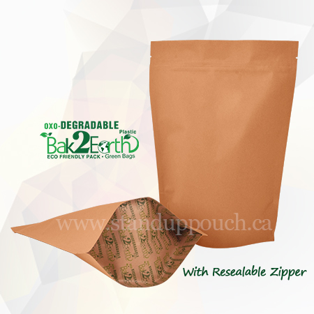 Oxo-Degradable Stand Up Pouches