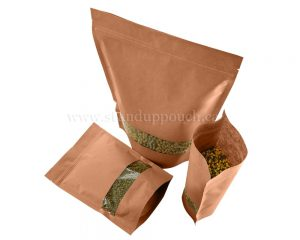 Brown Paper bags with Rectangle Window
