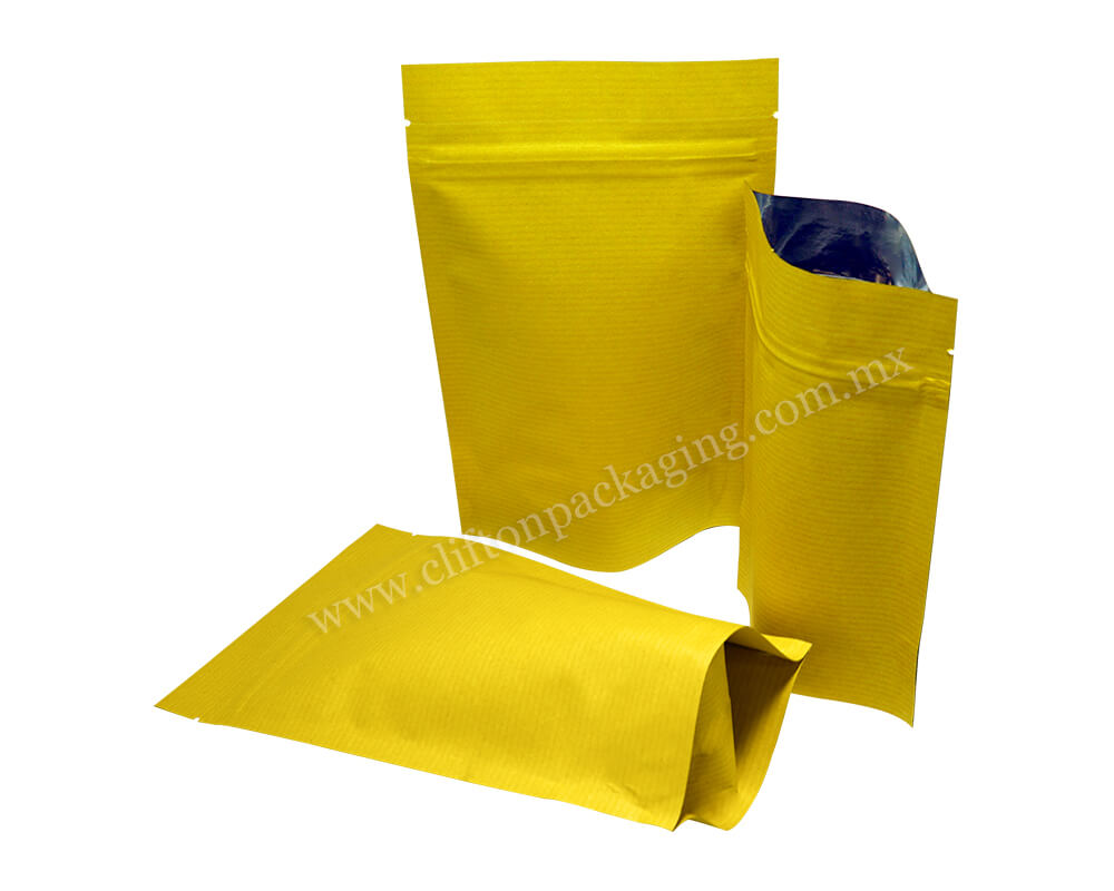 Yellow Stripped Paper Pouches