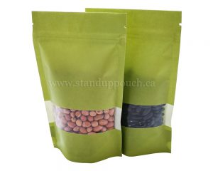 Green Paper bags with Rectangle Window