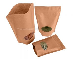 Brown Paper bags with Oval Window