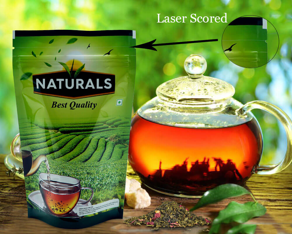 LASER SCORED POUCHES